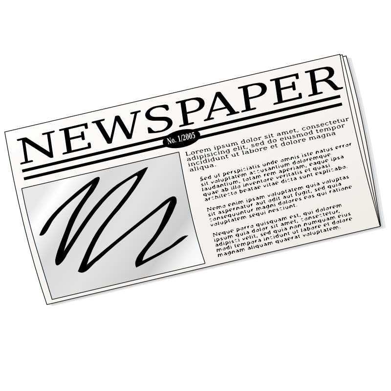 newspaper pictures clip art - photo #14