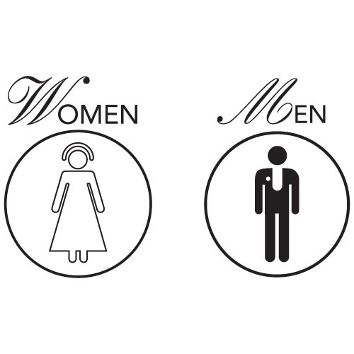 Unisex Restroom Signs, Printable - DYNASTY™ 東方不敗™ - Premium ...