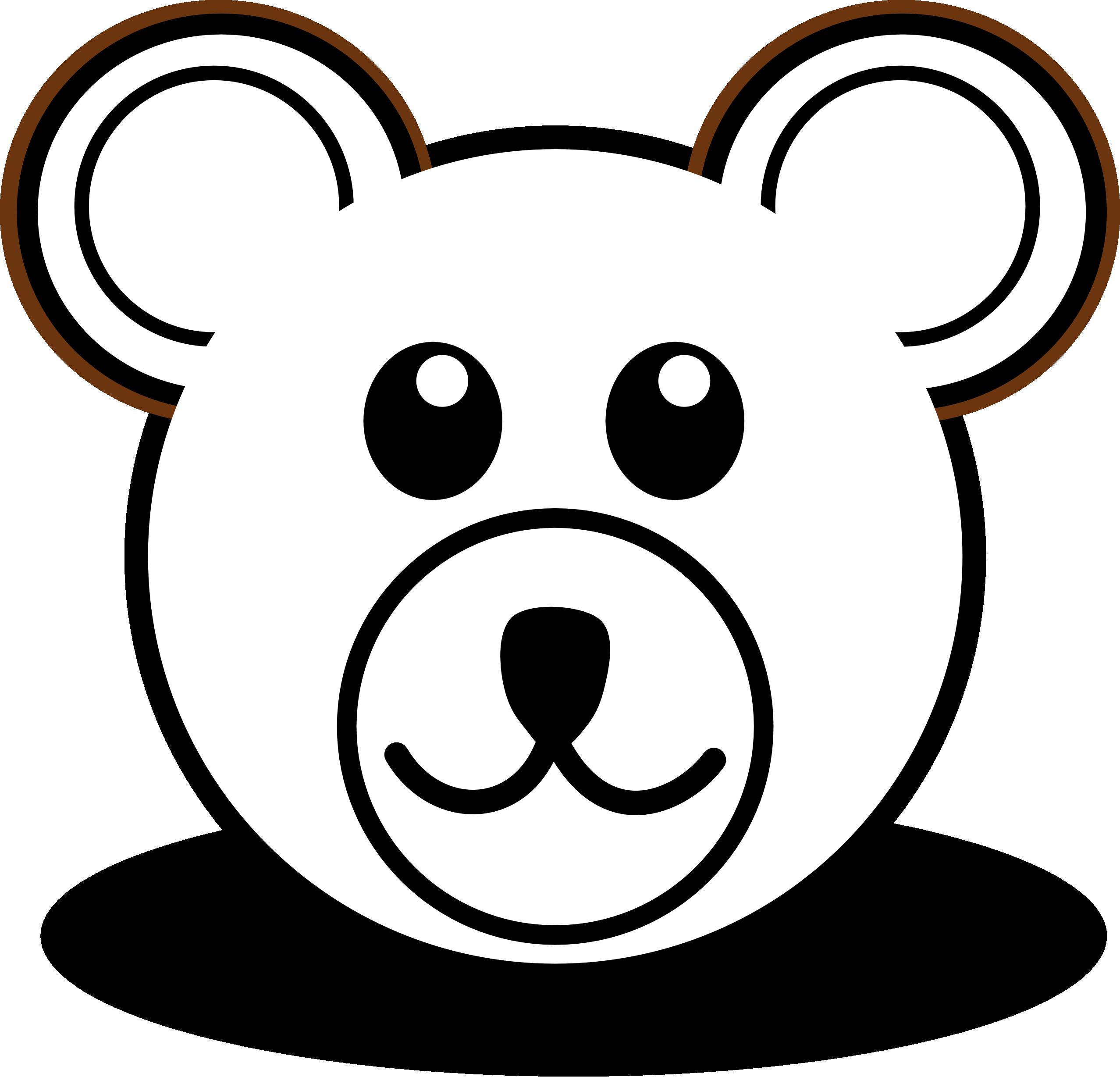 Outline Of A Teddy Bear - Cliparts.co
