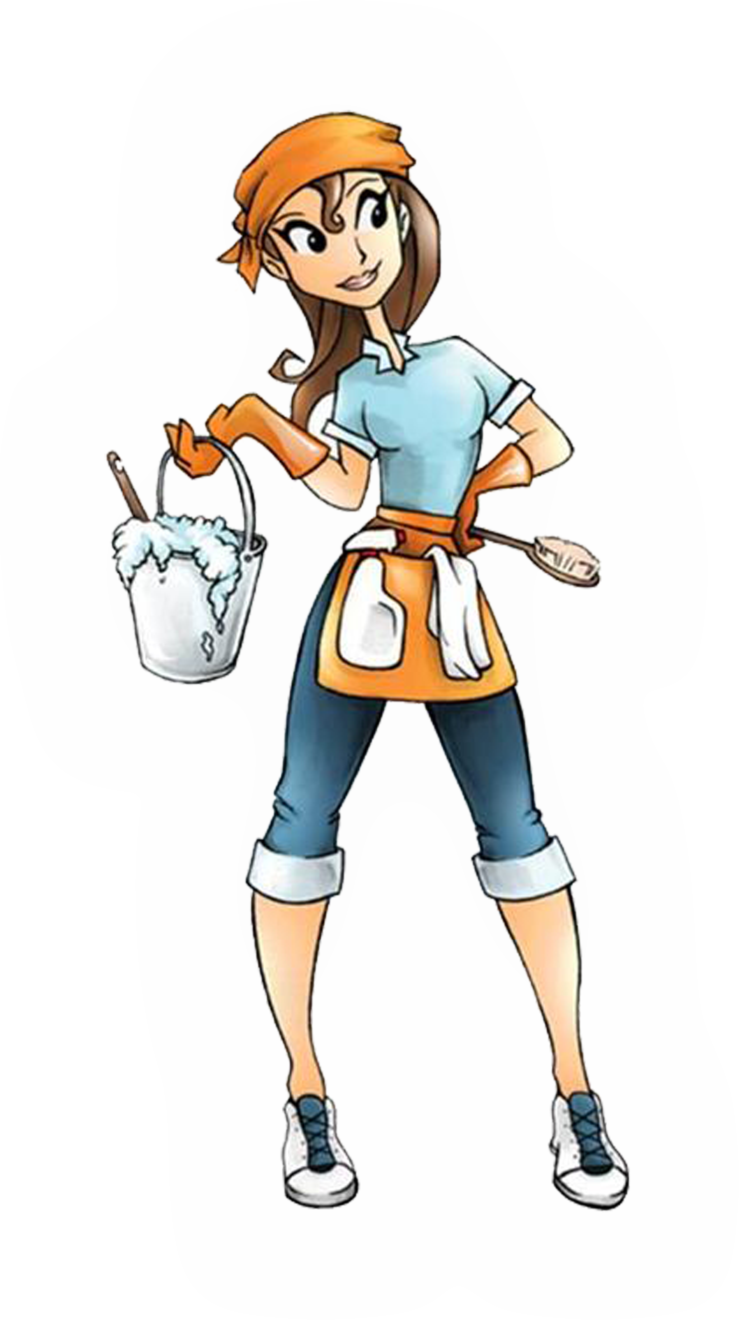 Cartoon Cleaning Lady Clipartsco