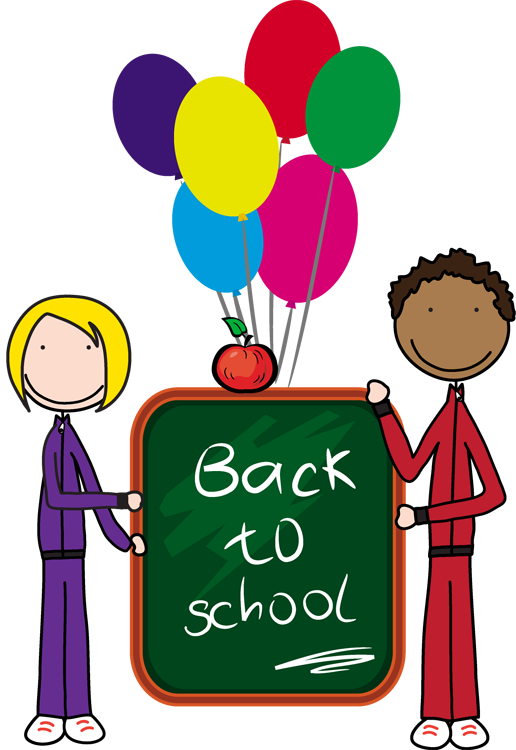 Chalk Transparent Border: First Day Of School Clip Art