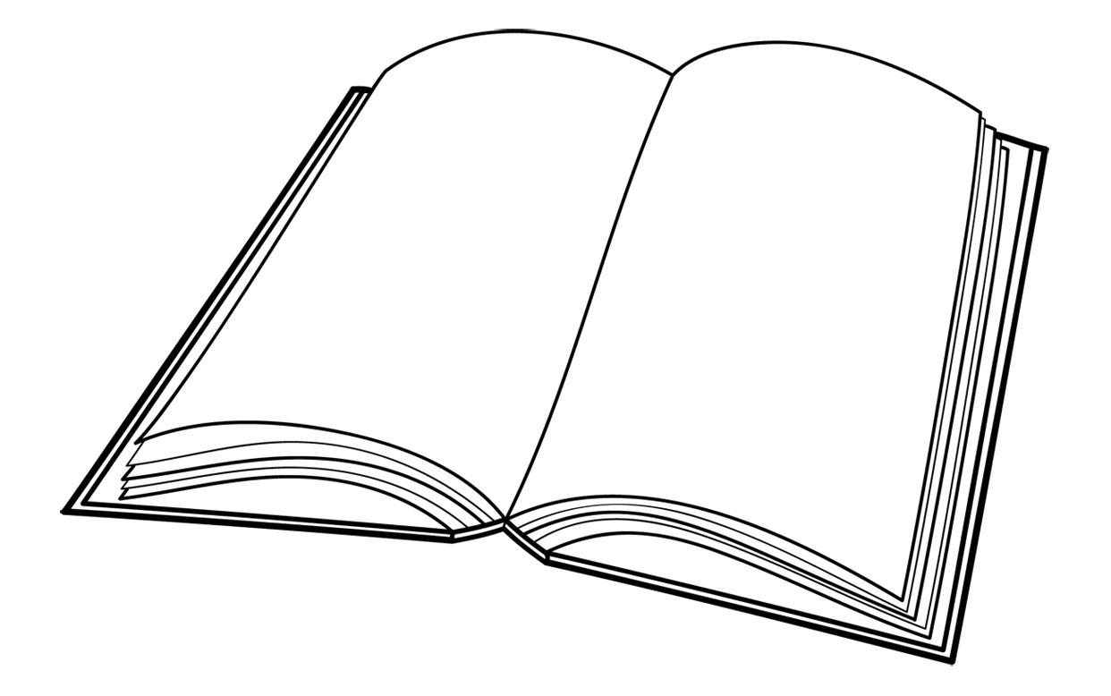 Open Book Line Drawing Book Line Art - ClipArt Best