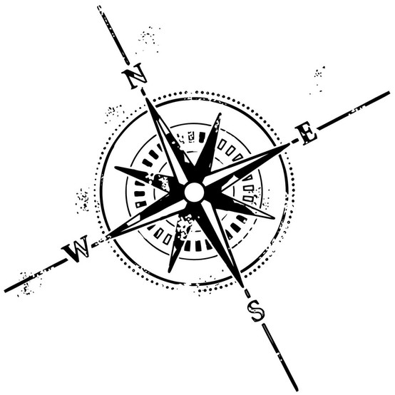 Légend image pertaining to printable compass