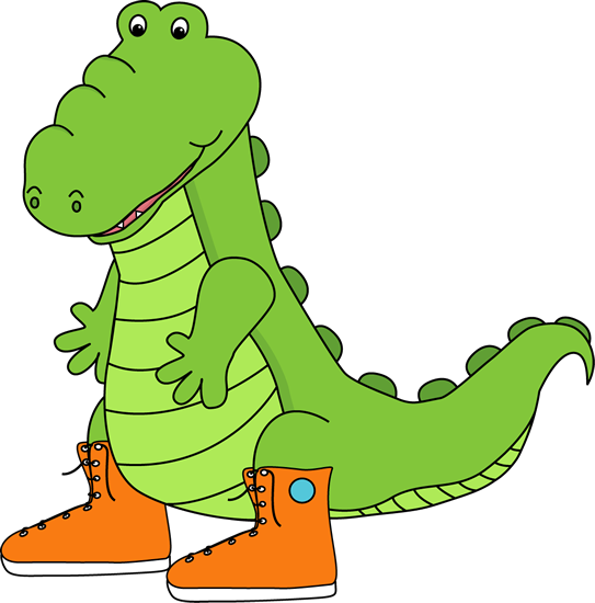 Alligator Wearing Sneakers Clip Art - Alligator Wearing Sneakers Image