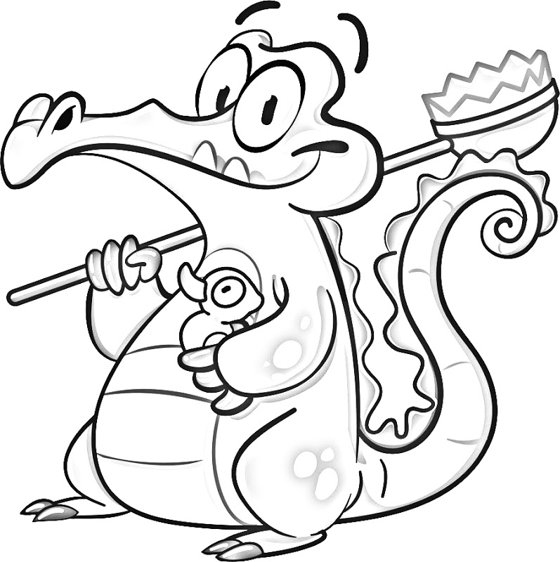 coloring pages water - wheres my water swampy free coloring pages