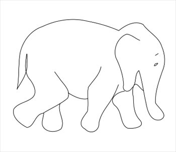 Free elephant-outline Clipart - Free Clipart Graphics, Images and ...