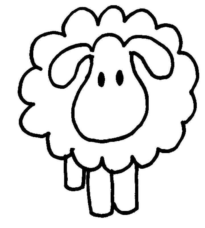 Line Drawing Sheep : Sheep drawings for kids cliparts