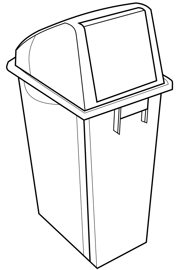 Recycling Bin Template by spiderlily-studio on deviantART