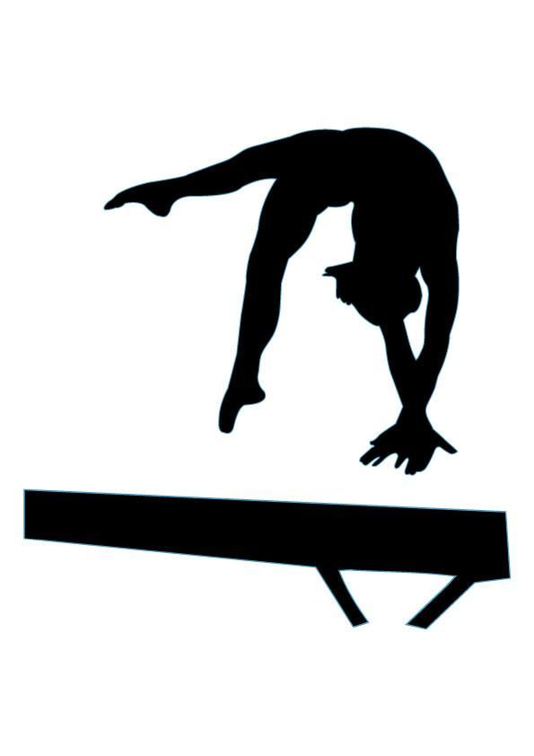 Gymnastics Silhouette - Cliparts.co