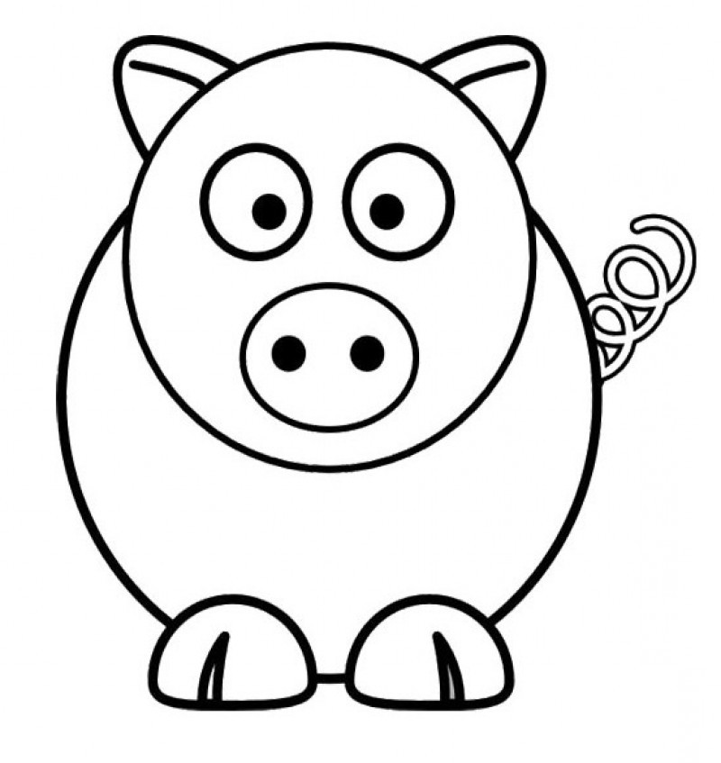 Cute Pig Doll Coloring For Kids Kids Colouring Pages