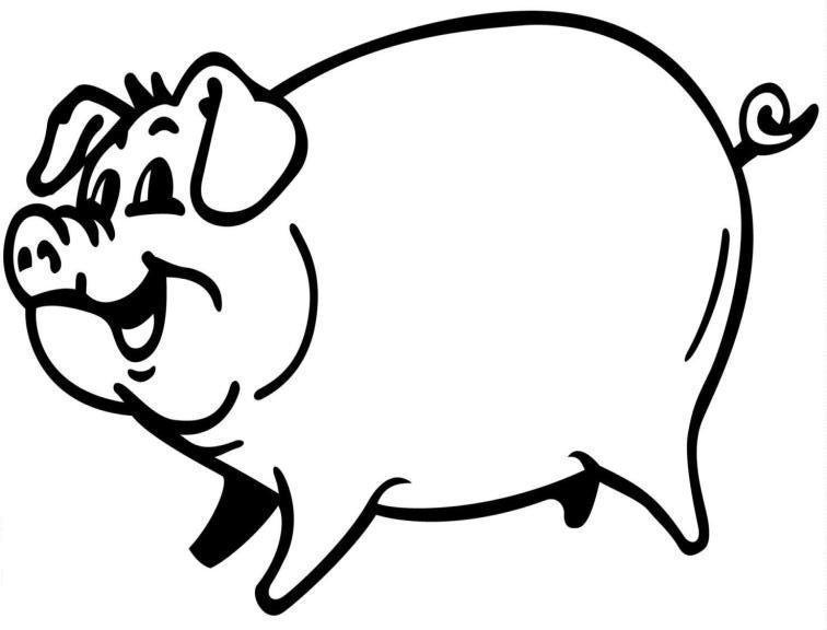 Piglet Line Drawing : Pig line art cliparts