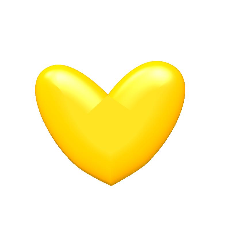 clip art yellow heart - photo #20
