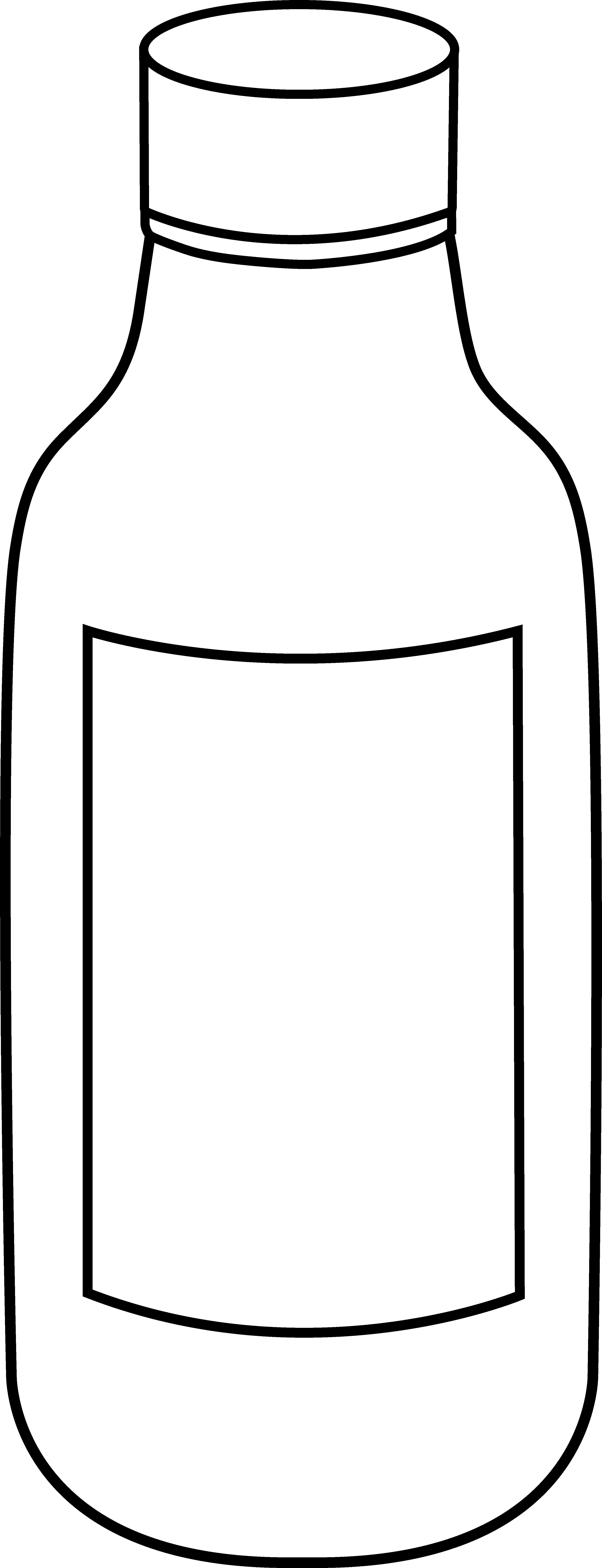 Line Art Jug : Cartoon medicine bottle cliparts