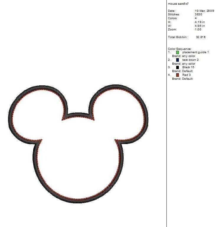 Mickey Mouse Head Silhouette Clip Art Images & Pictures - Becuo