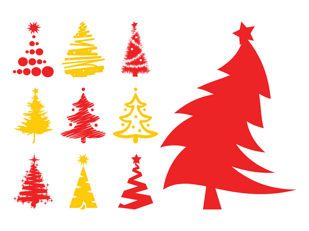 Free Evergreen trees Vectors