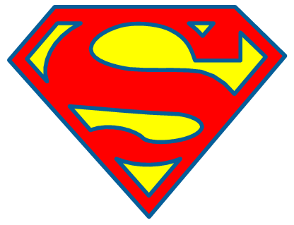 superman symbol outline clipartsco