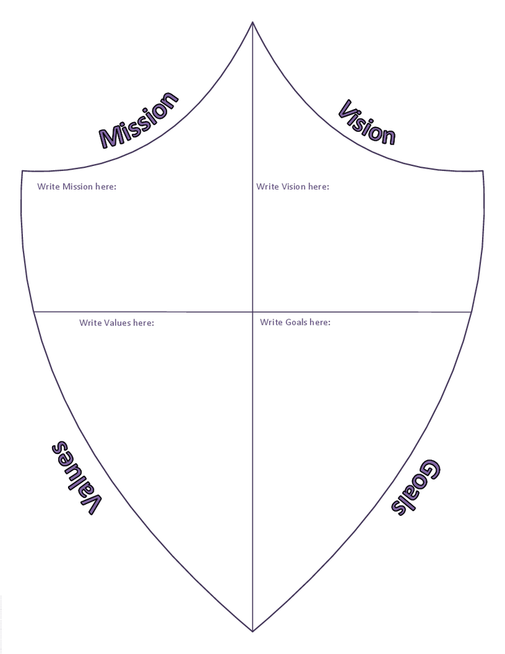 Coat Of Arms Template Pdf Shield Template - Clip...