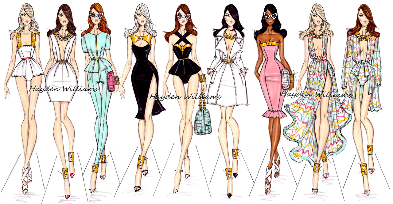 Hayden Williams Fashion Illustrations | Hayden Williams Spring ...