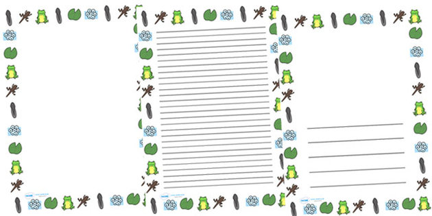 PAPER WITH DECORATED BORDERS  Teacher Printables