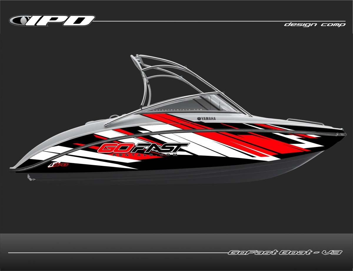 Boat Graphics Designs Ideas wrap rolling by marine graphics ink graphics Boat Wrap Design Go Fast Rentals Ipd Jet Ski Graphics