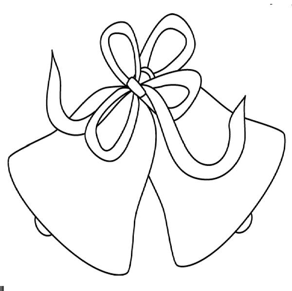 Wedding Bells And Doves Clip Art Sketch Coloring Page