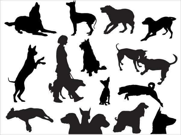 Dog Silhouettes Free Photoshop Brushes