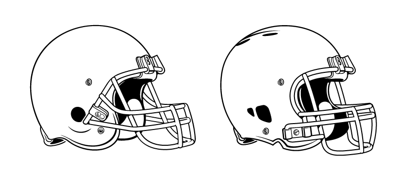 Football Helmet Coloring Pages Sketch Coloring Page