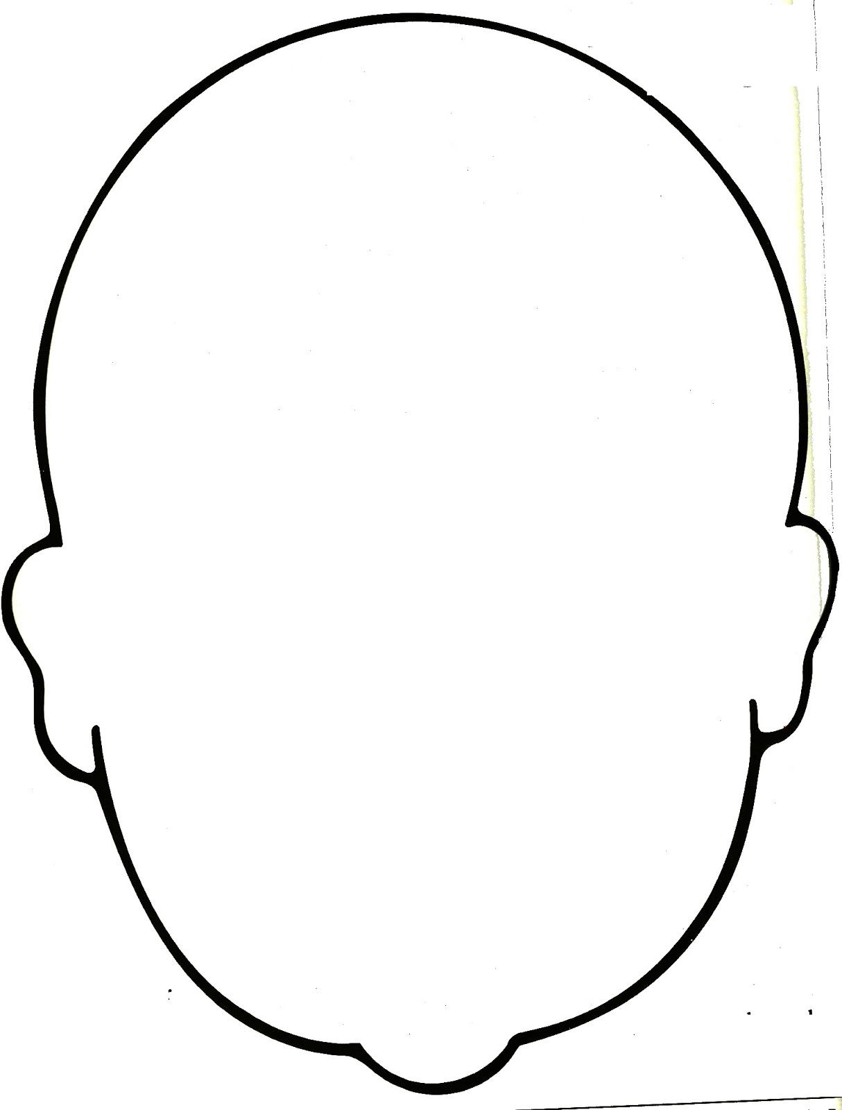 Blank Human Face Template - ClipArt Best