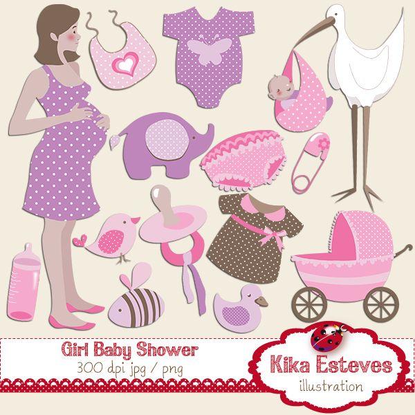 baby shower clipart girl