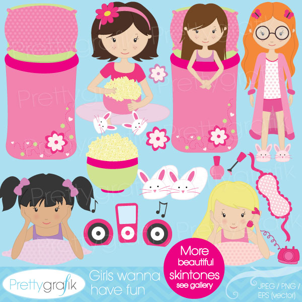 Sleepover slumber party clipart Sleepover slumber party clipart ...