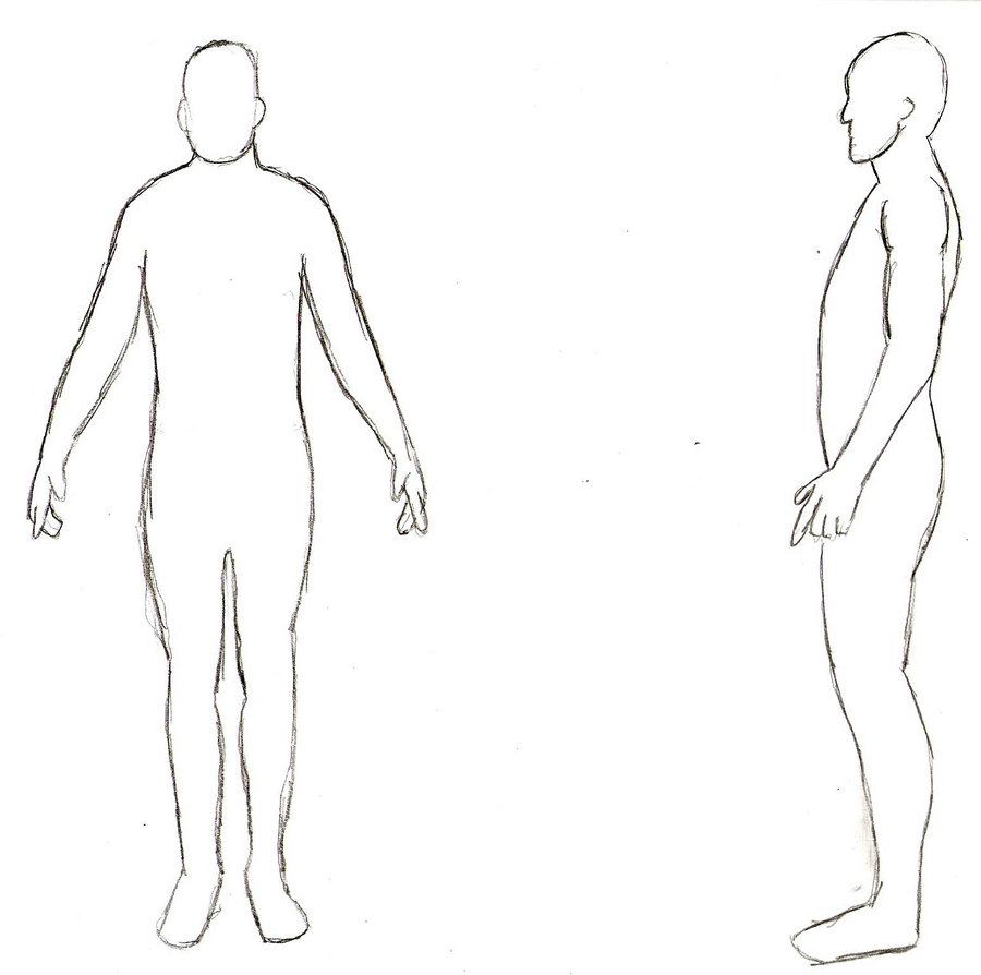 Human outline template cliparts page 2 for queryfree human body outline front and back maxwellsz