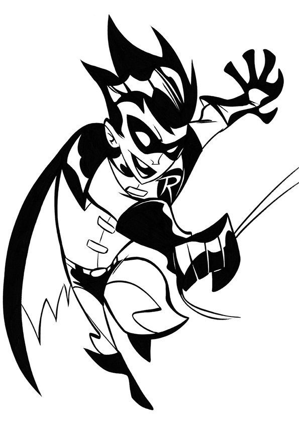 Free Coloring Pages Of Batman And Robin Printable Batman And Robin Coloring Page