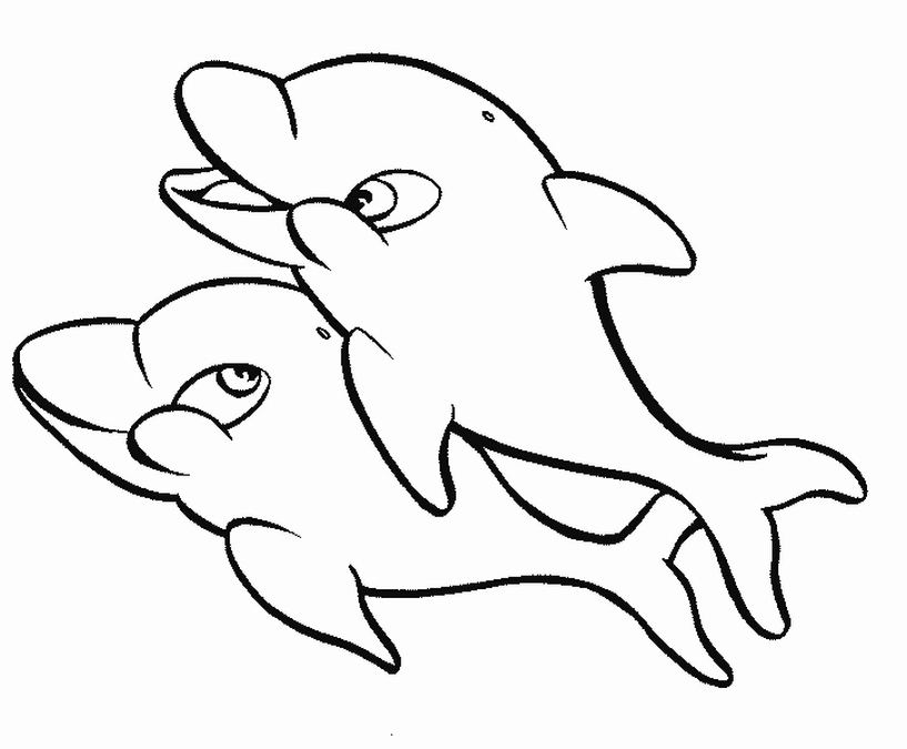 e coloring pages for dolphins - photo #45