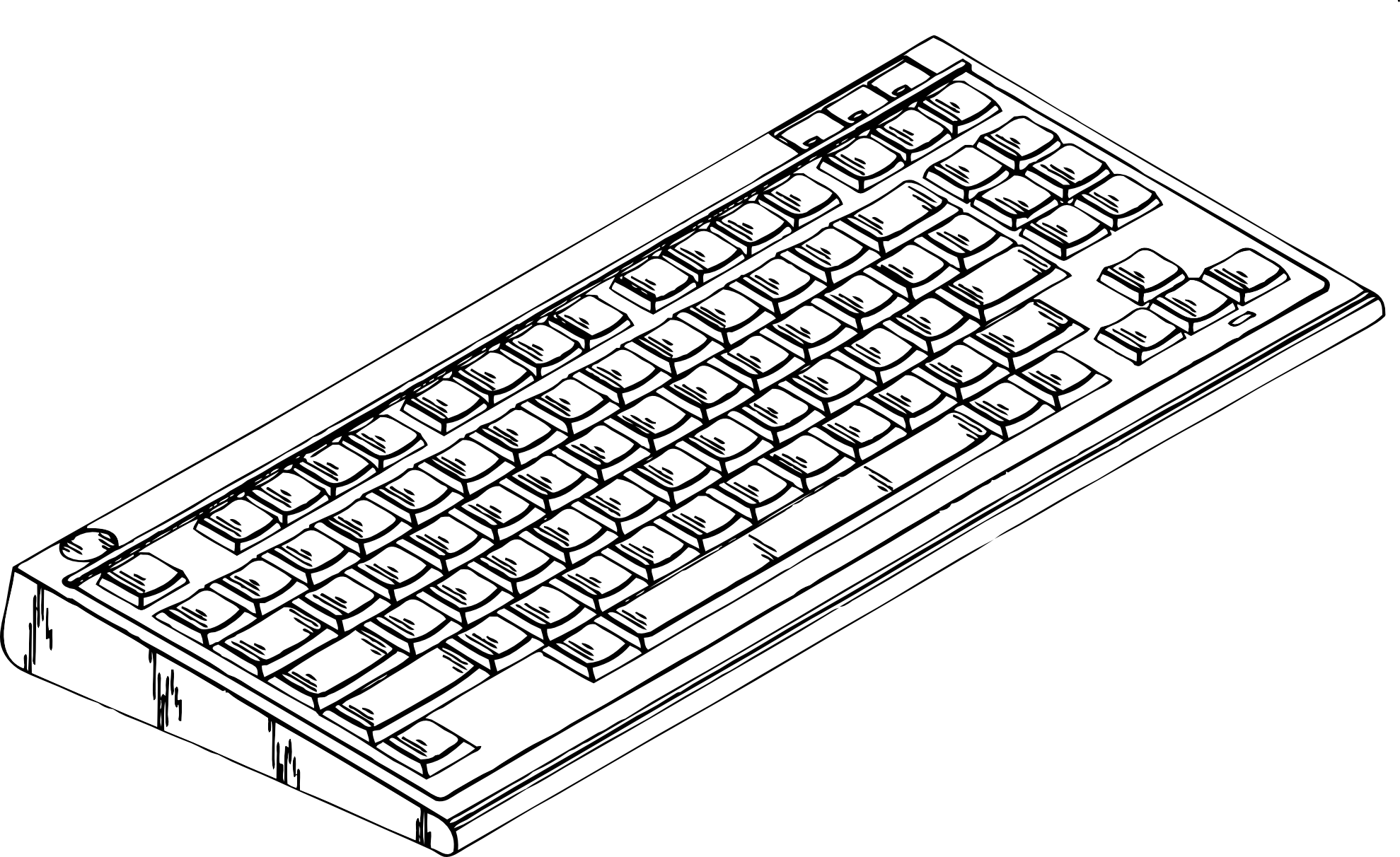 Clipart Of A Computer Keyboard