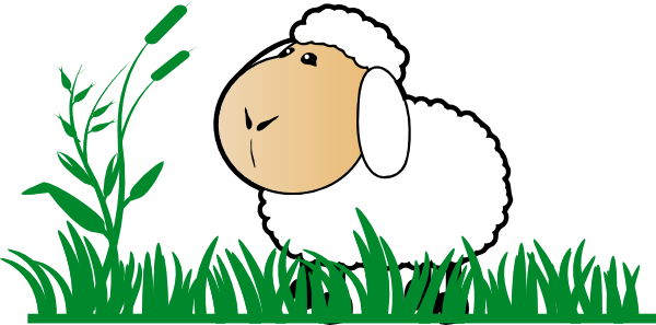 Sheep With Grass clip art - vector clip art online, royalty free ...