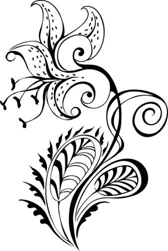 Tattoo Clipart Black And White: Black And White Flower Tattoo Designs
