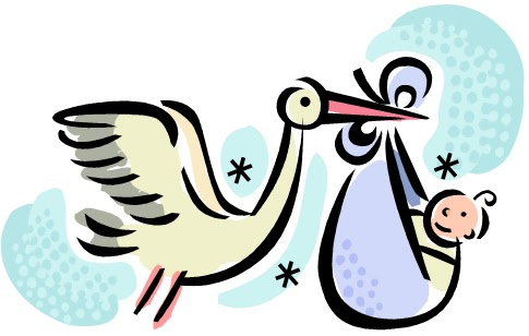 Baby Shower Stork Clipart - ClipArt Best