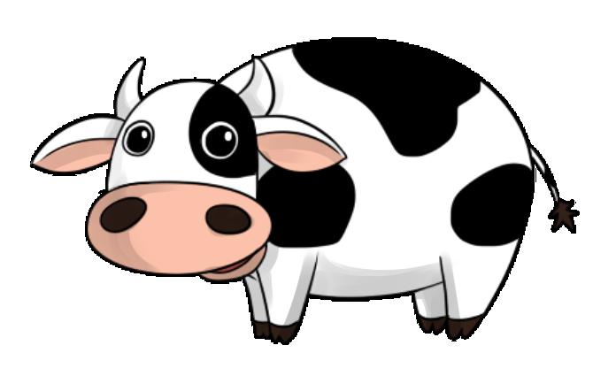 Cute Cartoon Cow - Cliparts.co