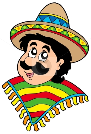how to draw a mexican person