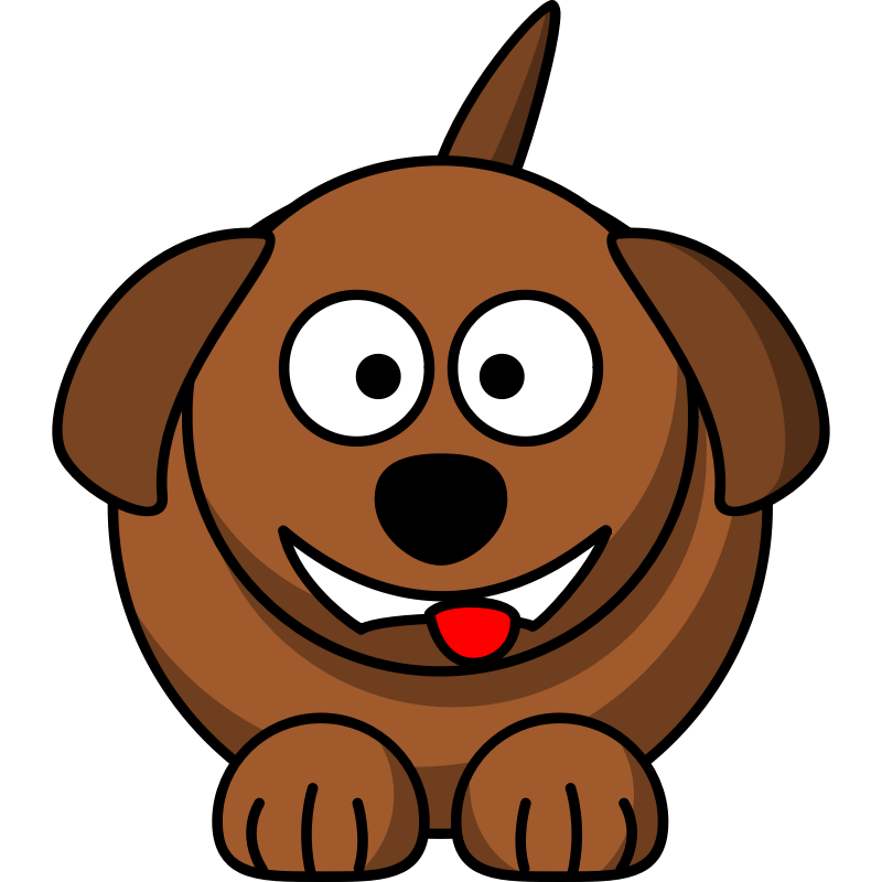 Clipart - Cartoon dog laughing or smiling