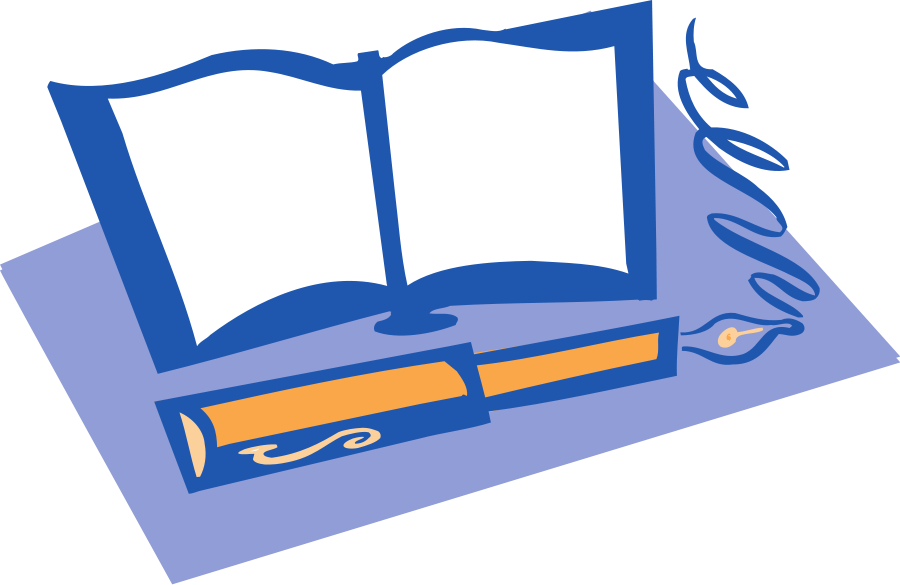 Book and Pen large 900pixel clipart, Book and Pen design ...