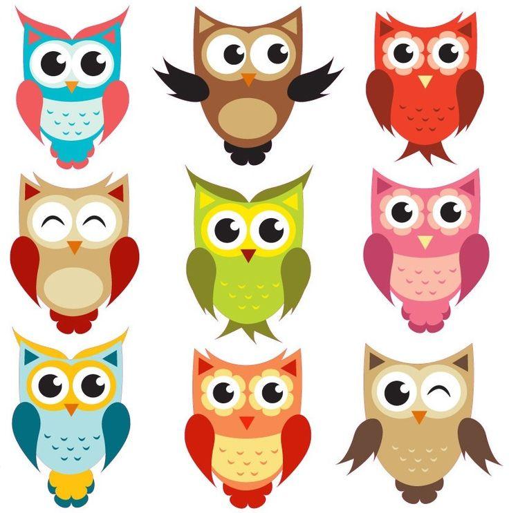 Cute Cartoon Owls - Cliparts.co