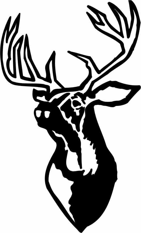 Deer Head Wall Decal 2 - Custom Wall Graphics