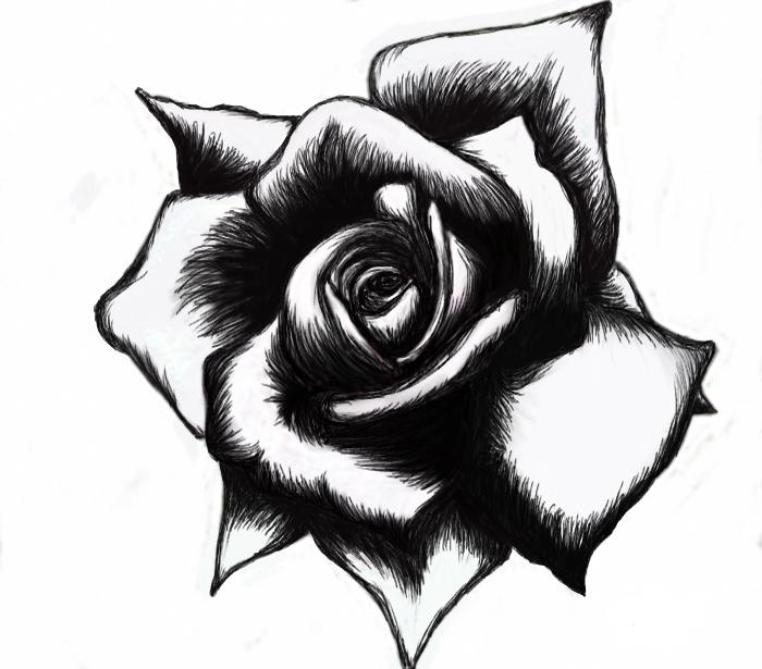 Black and white heart tattoos designs cool tattoos for Cool designs in black and white