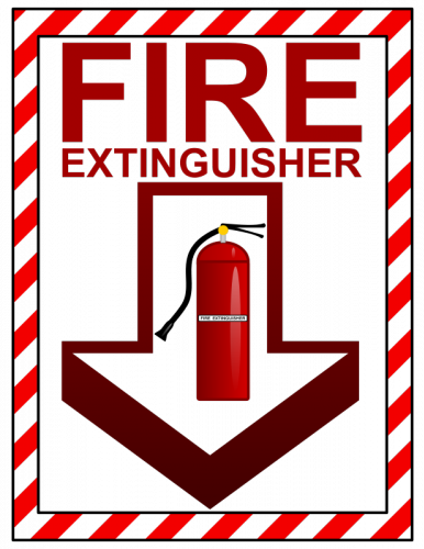 Unusual image for printable fire extinguisher signs