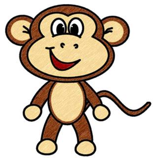 Monkey Cartoon Baby Cartoon Baby Monkeys -...