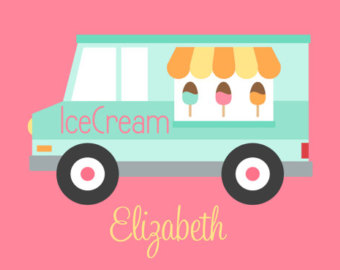 Popular Items For Ice Cream Truck On Etsy