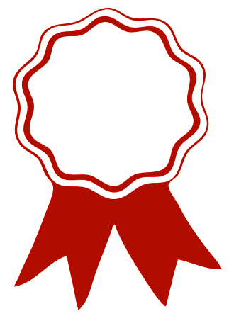 Certificate ribbon logo