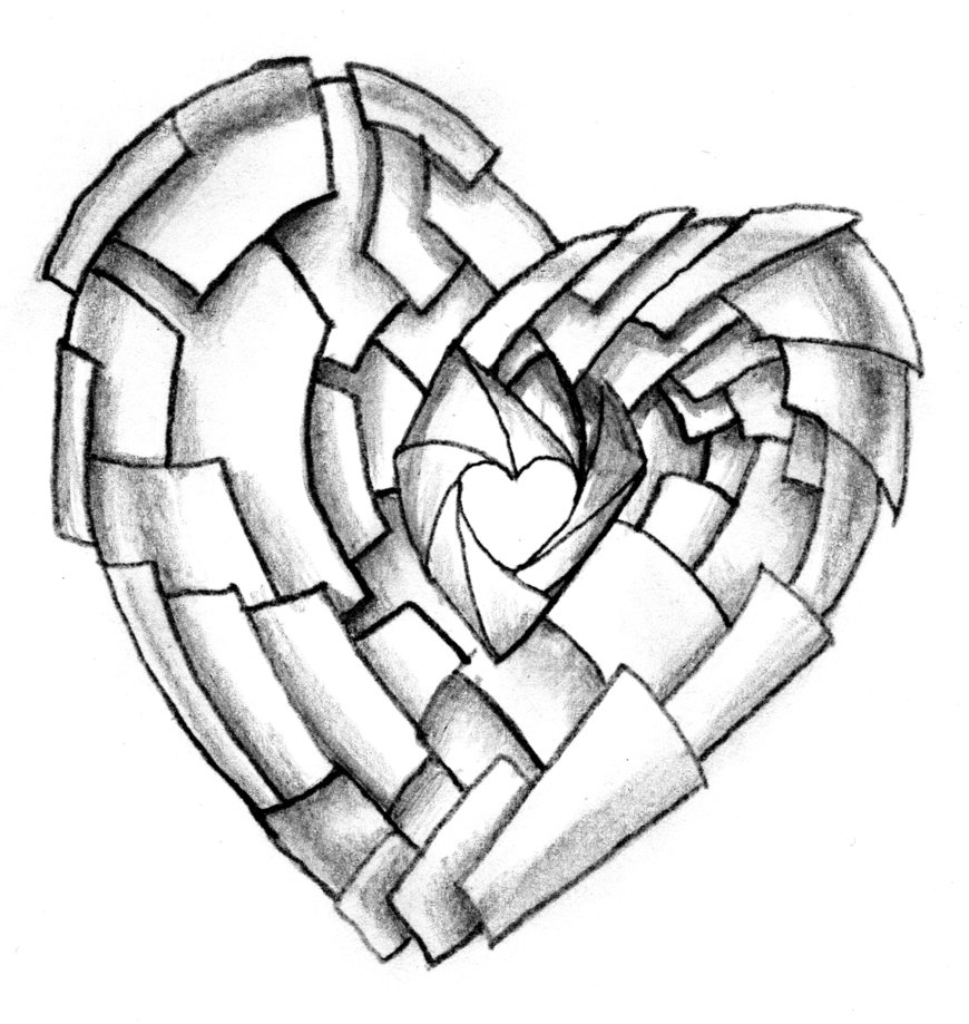 Cool heart designs to draw for Cool drawing sites