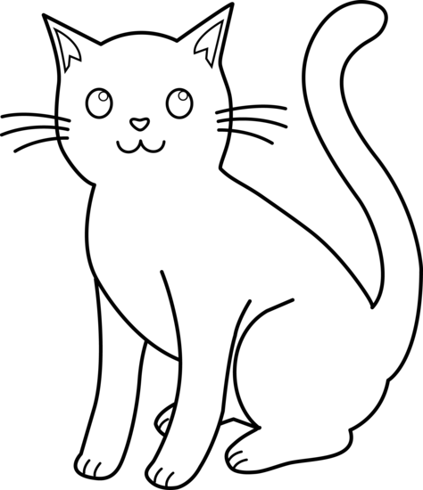 Black And White Cat Clip Art - Cliparts.co
